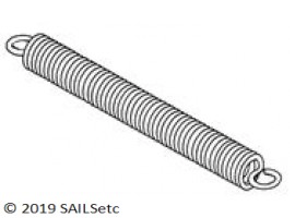 Tension spring - 16 x 5 mm
