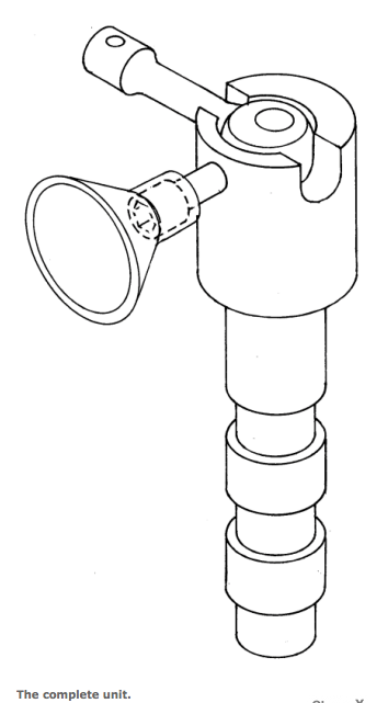 Tiller arm retainer with cone