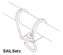 Headsail swivel, with ball race, adjustable, for 8mm booms