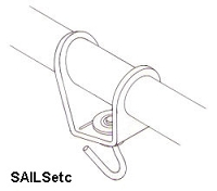 Headsail swivel, with ball race, adjustable, for 6mm booms - new