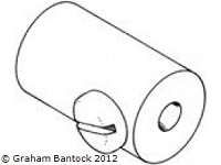 Headsail Boom Fitting for 10mm Carbon Tubes  - by SAILSetc -