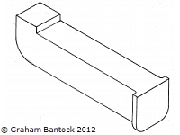 Plastic Main Boom Tang Fitting - by SAILSetc -
