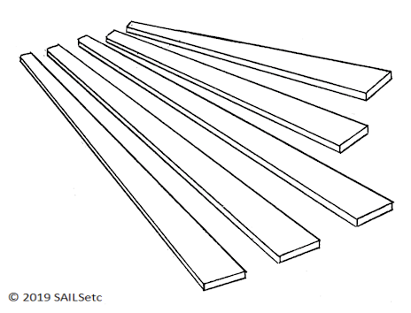 Tapered Battens - RG65 - 1 set