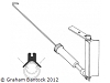 Gooseneck with Aluminum Body for round mast. Will fit 11.1mm or 12.7mm masts