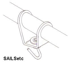 Headsail swivel, with ball race, adjustable, for 5mm booms - new