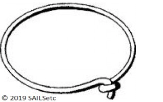 Luff Ring - 8 mm mast