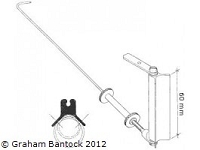SAILSetc's Gooseneck/kicking strap, round mast mount for Marblehead, Star, EC 12 any boom