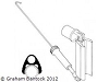 SAILSetc's Gooseneck/kicking strap, round mast, one meter ball raced for 11 or 12.7mm Round Boom Section